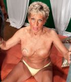 Big-titted over Seventy grandma Sandra Ann stripped for bi-racial MMF three way sex