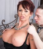 Fashionable experienced broad Gina Milano entices a younger guy with her monster-sized melons