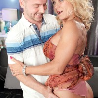 Sexy over 60 granny Cara Reid plays part of cougar by seducing younger man
