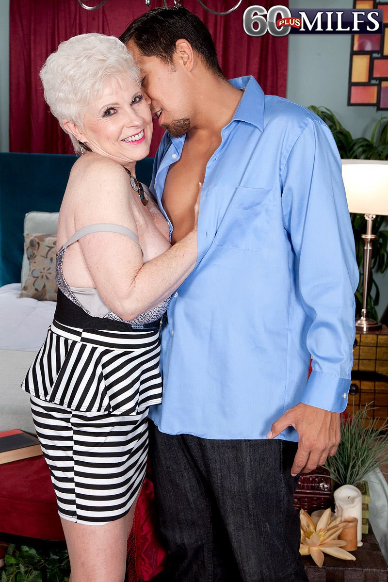 Hot 60+ MILF Jewel getting fucked by a much younger man