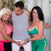 Wild threesome sex with over 60 pornstars Sally D'Angelo and Rita Daniels