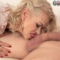 Super-sexy accomplished doll Beata gives a ball pleasuring BJ after seducing a younger man