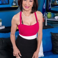 Japanese grandma Kim Anh is unclothed down to lingerie before uncovering large aged breasts