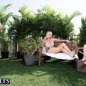 MILF Over 60 Rita Daniels and a mature girlfriend seduce a younger guy