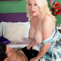 Over sixty MILF Angelique DuBois Gets Spunk On Her Face